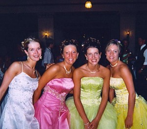 Ugh, the Deb year.  I still don't wear strapless dresses because I can't hold them up...